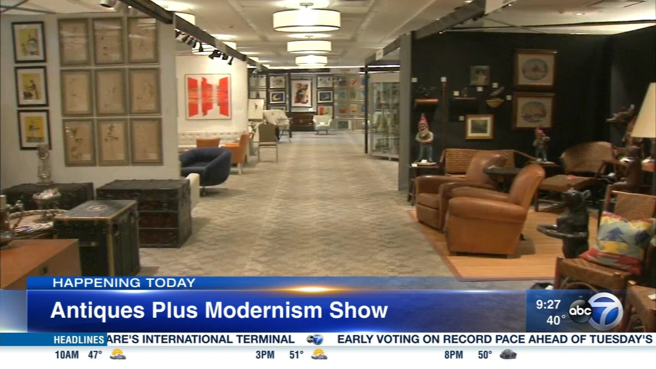 Some of the countrys top dealers of antiques and modern pieces are in town for the Antiques + Modernism Winnetka Show.