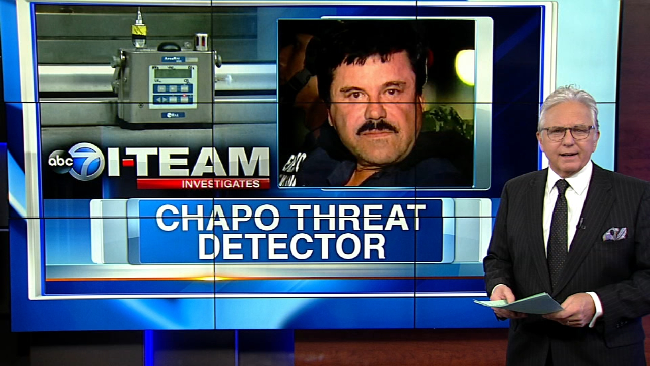Chuck Goudie and the ABC7 I-Team report that federal authorities have placed an electronic threat detector at the front of the courthouse where drug lord El Chapo is going on trial