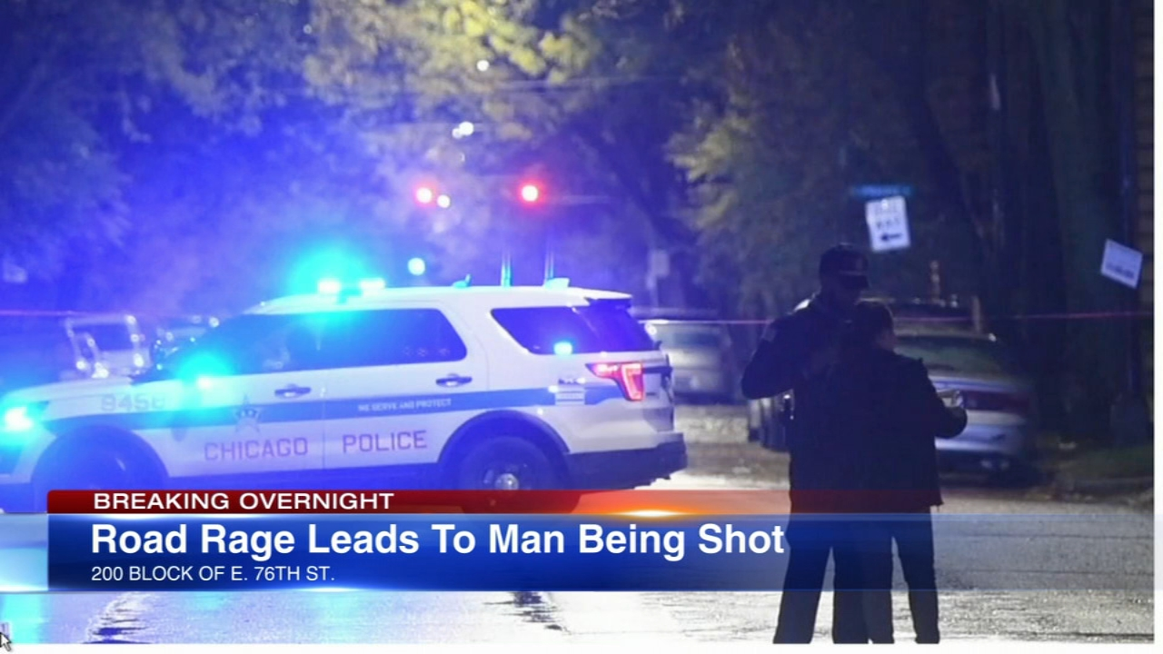 A man was shot and seriously wounded in the Chatham neighborhood Monday morning, and police said it was road rage.