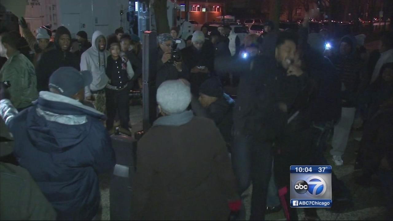 Demonstrators celebrate McCarthy resignation