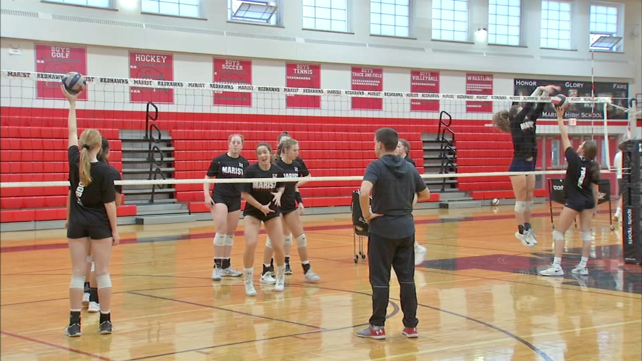 Marist High Schools girls volleyball team is in the IHSA state semi finals against Benet Academy Friday night.
