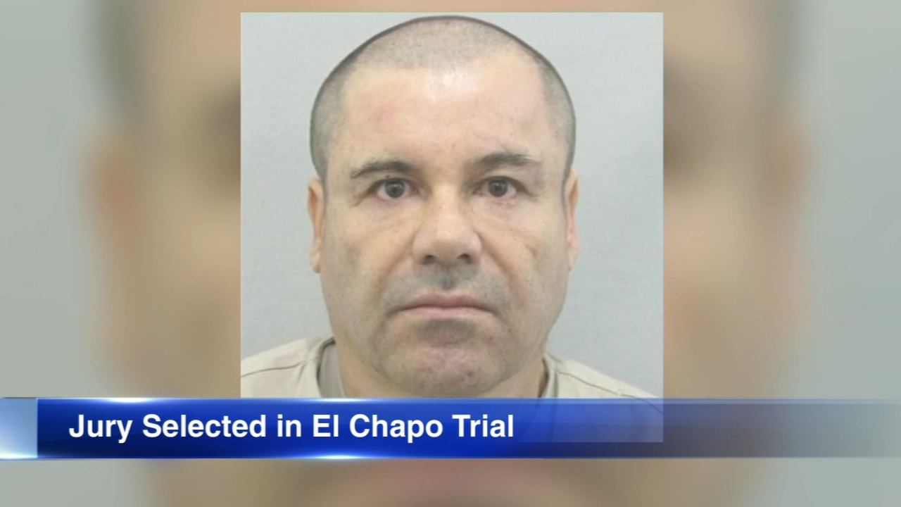 Jury selection at the U.S. trial for Mexican drug lord Joaquin El Chapo Guzman was completed Wednesday with Guzman waiting for word on whether he can hug his wife for the first t