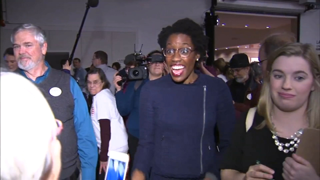 "Lauren Underwood, who won in Illinois' 14th Congressional District, is one of the leading examples of 2018's so-called ""pink wave."""