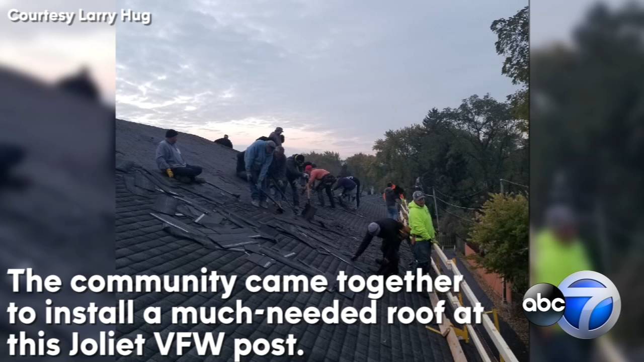 More than 30 roofers showed up at Post 367 earlier this month to give the historic building a brand new roof.