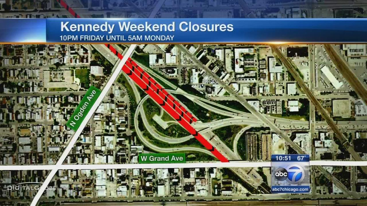 Kennedy construction, closures begin Friday night