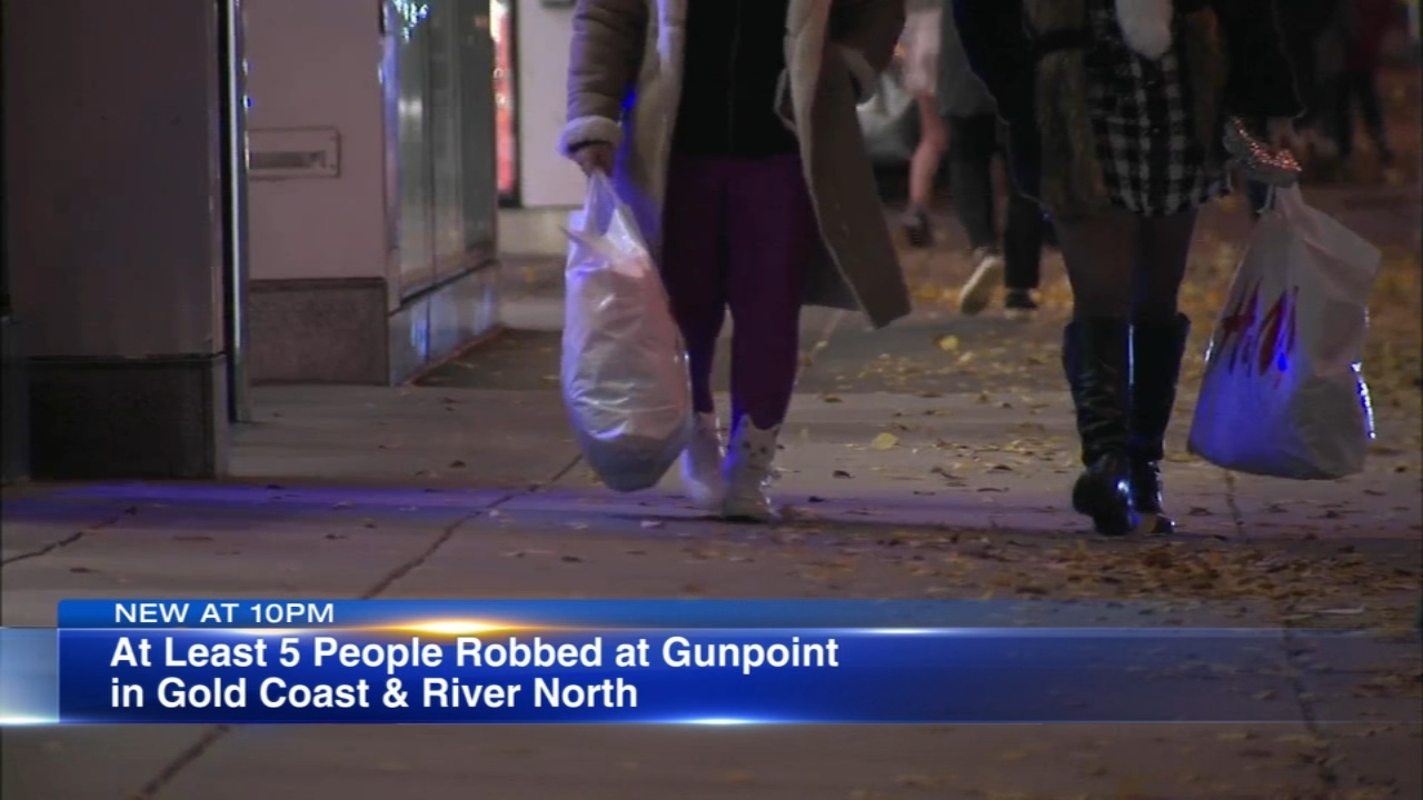 Police are warning residents following a string of robberies, some of them armed, in the River North and Gold Coast neighborhoods over the past few weeks.