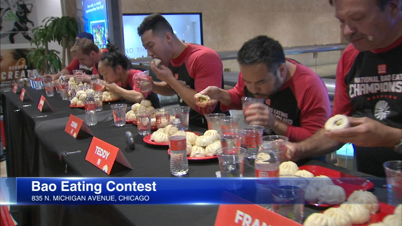 The final round of the National Bao Eating Championship went down in Chicago Saturday.