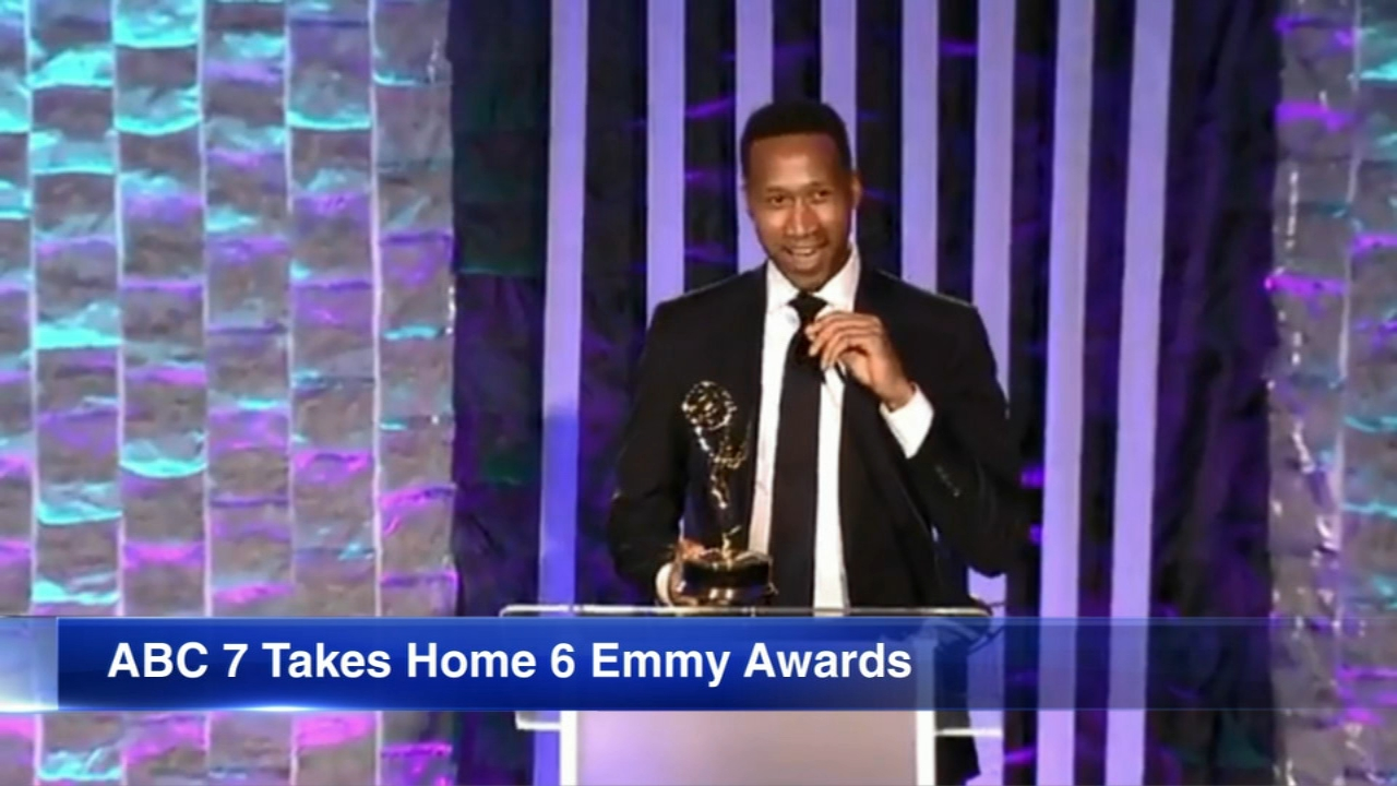 Terrell Brown won a Chicago-Midwest Emmy Awards in the Best News Anchor category Saturday night.