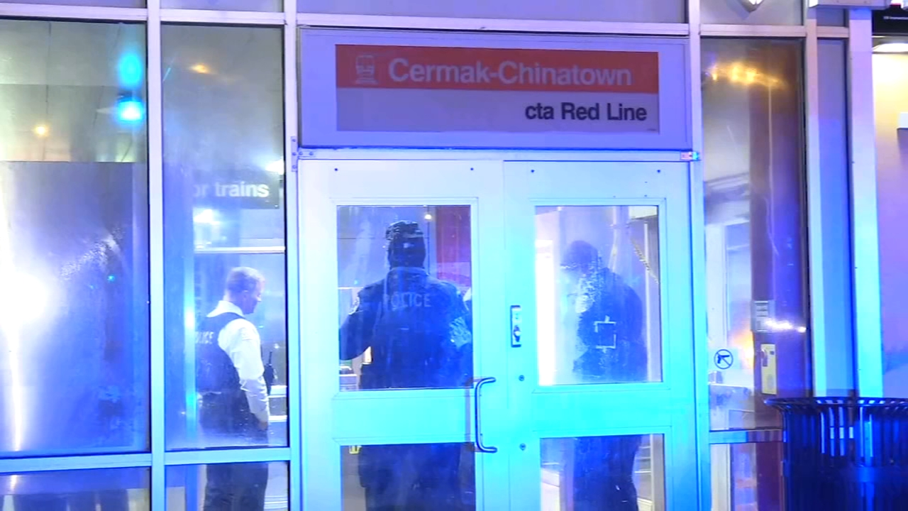 A man was shot on the Red Line as the train pulled into the Cermak-Chinatown station early Saturday.