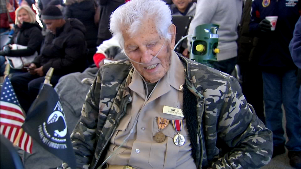 Ten veterans were honored at a Veterans Day event on Saturday.