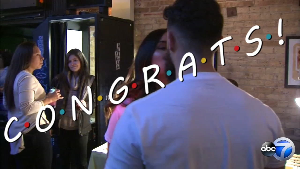Cynthia Rivera and Jose Martinez got married Sunday in the Friends pop-up bar at Replay in Lincoln Park.