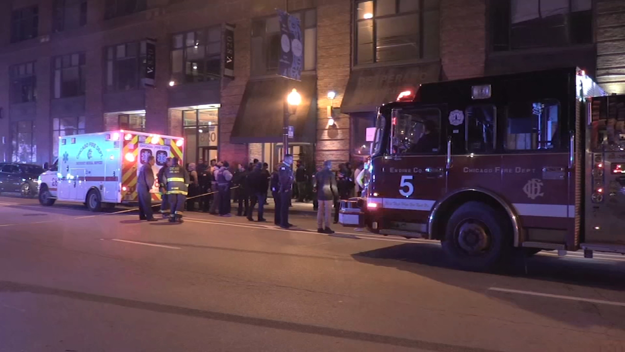 Four people are being questioned about a shooting in Chicagos Greektown neighborhood.