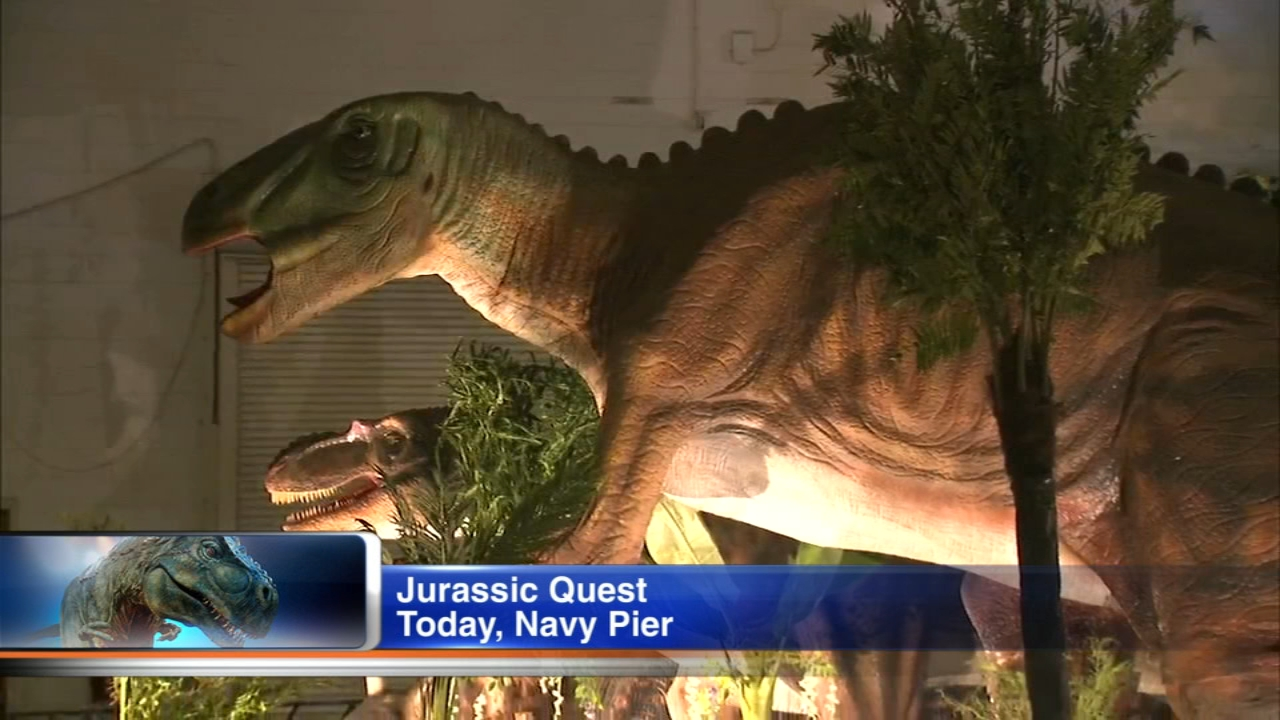 This weekend you can return to a time when dinosaurs roamed the earth.