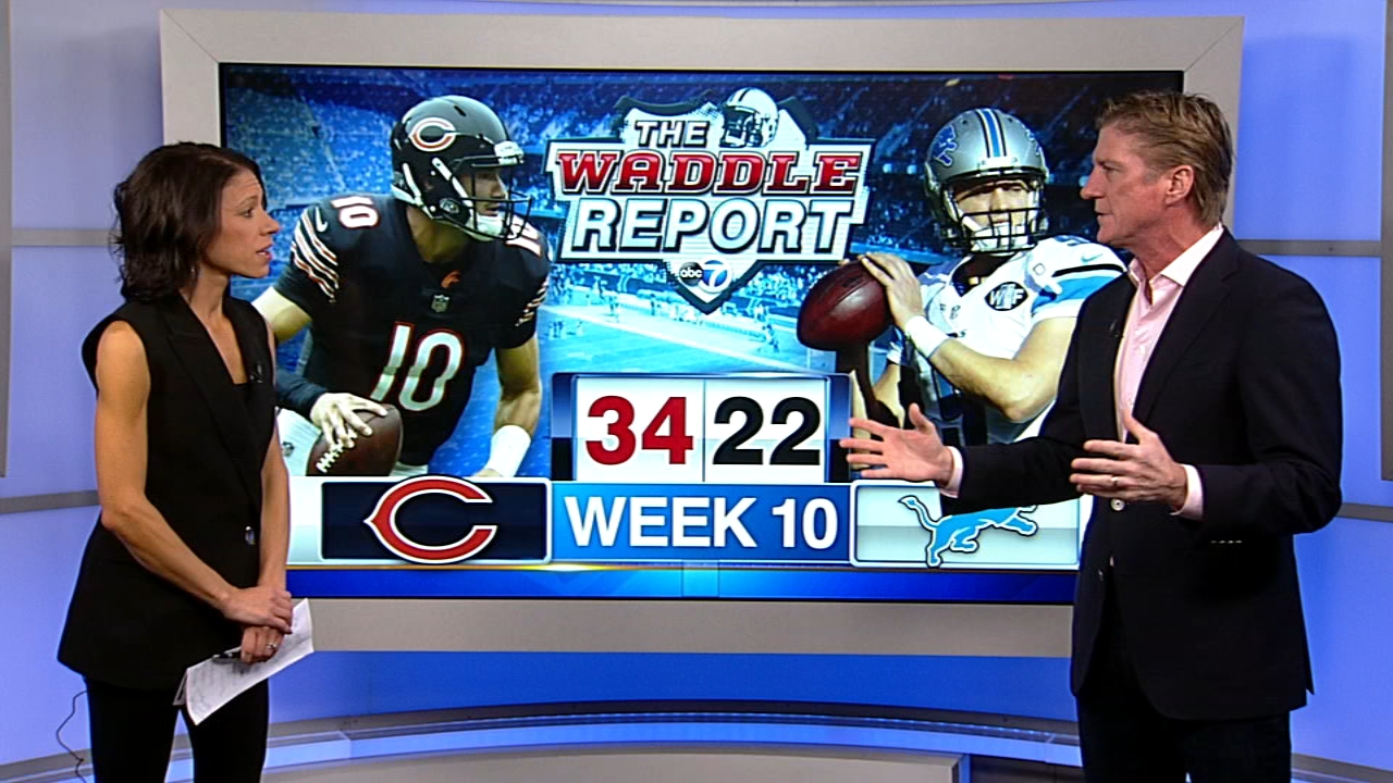 In this weeks Waddles World, ABC7 sports reporter Dionne Miller and former Chicago Bears player Tom Waddle talked about Sundays Chicago Bears 34-22 win over the Detroit Lions