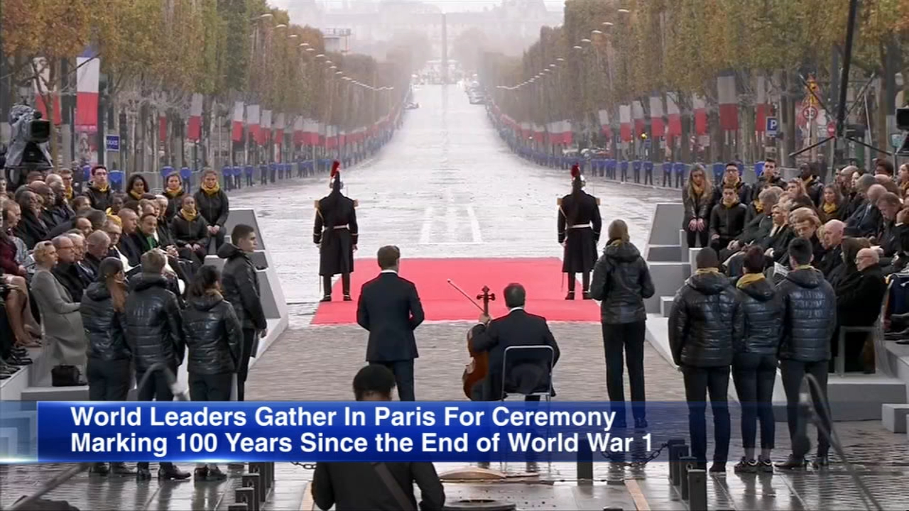 World leaders with the power to make war but a duty to preserve peace solemnly marked the end of World War Is slaughter 100 years ago at commemorations Sunday.