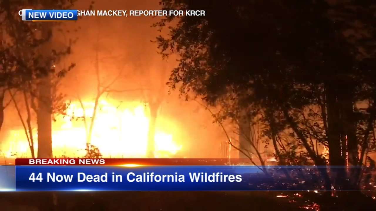 The death toll has reached 42 in the Northern California wildfire, making it the deadliest in state history.