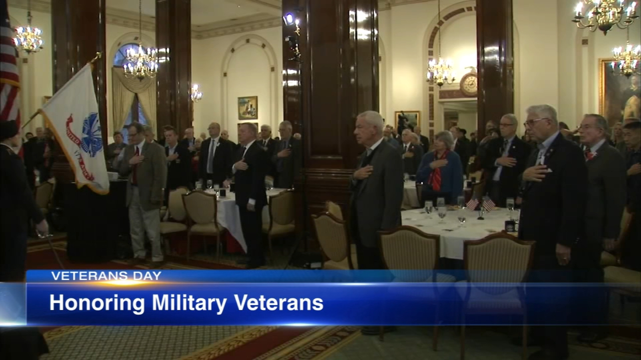 Political divides were put aside Monday as politicians gathered at the Union League Club to honor veterans who had served the country.