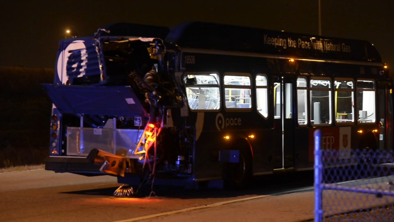 Ten people were hurt when two public transit buses collided on the Far South Side Monday night.