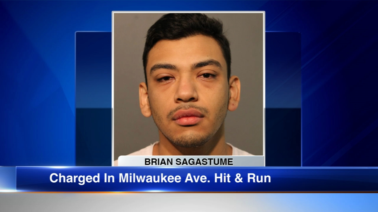 A Chicago man has been charged in a hit-and-run that injured three people in Logan Square on Saturday.