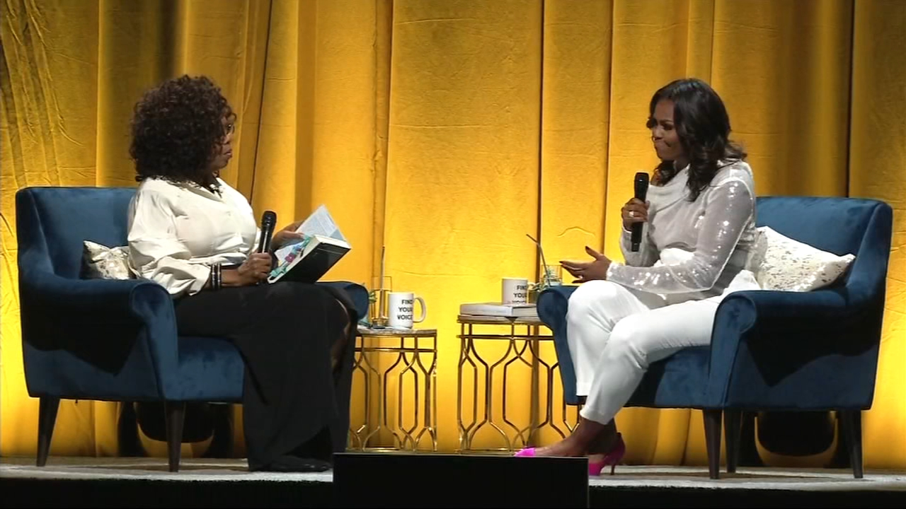 Former First Lady Michelle Obama kicked off the tour for her new book Becoming in Chicago Tuesday.