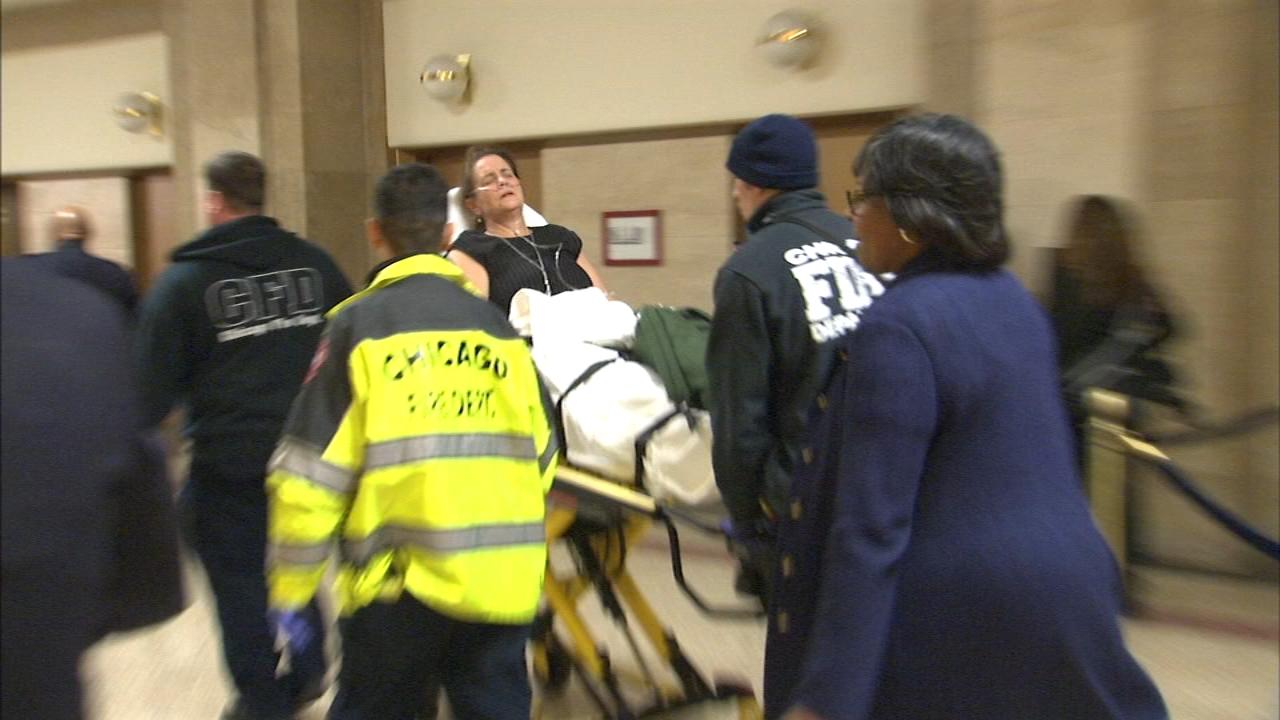"Chicago Ald. Susan Sadlowski Garza (10th Ward) was taken to Northwestern Hospital as a ""precaution."