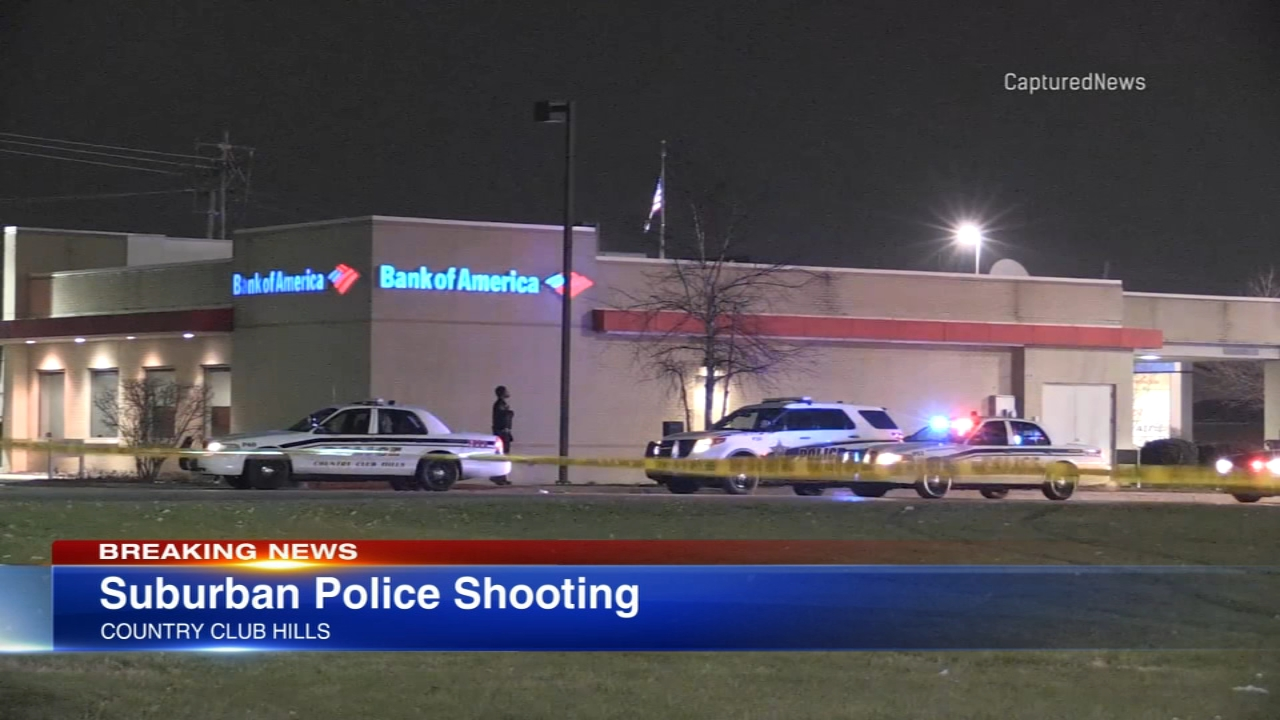 One person was shot by a police officer in south suburban Country Club Hills Thursday night.