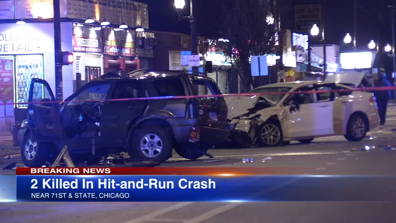 Two people were killed ina  hit-and-run crash in the Park Manor neighborhood Thursday morning, Chicago police said.