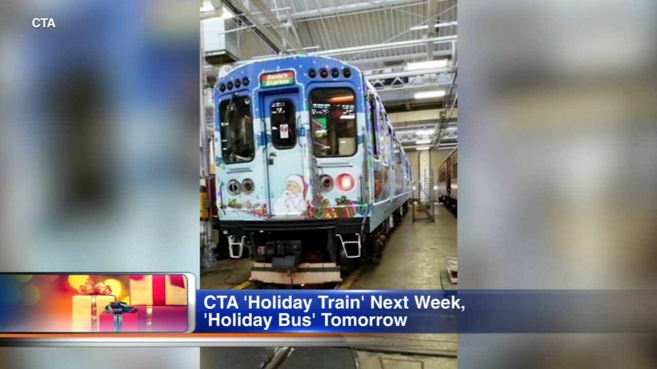 The CTA is about to roll out its Holiday Train and Holiday Bus.