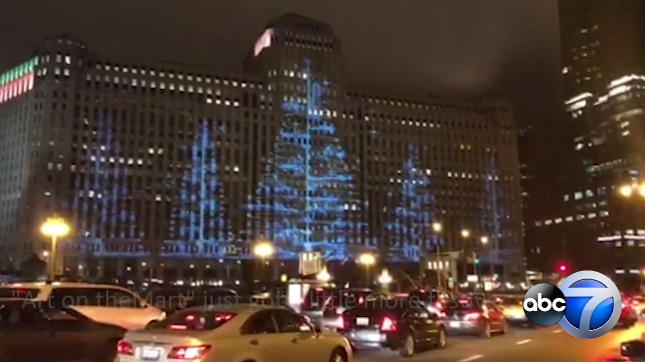 Art on theMART debuts winter holiday projections on largest digital art projection in the world