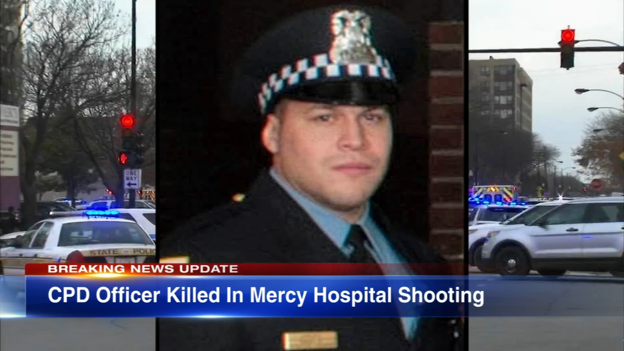Chicago is mourning a 28-year-old police officer killed in a shooting Monday at Mercy Hospital.