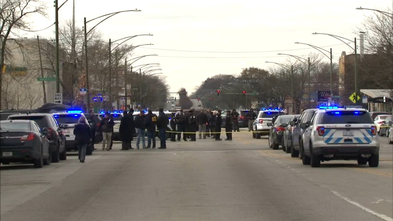 Less than 24 hours after one of their own is killed in the line of duty, Chicago police were on the scene of another shooting in the citys Gresham neighborhood.