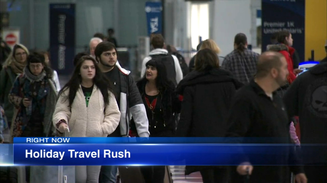 Long lines and big crowds are expected at O'Hare Wednesday.