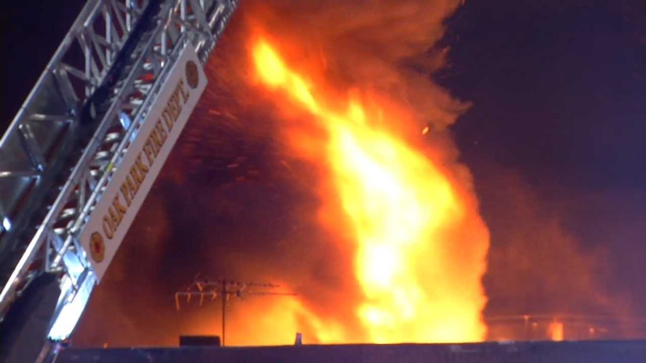 A business in the West Suburbs may be a total loss after a large fire