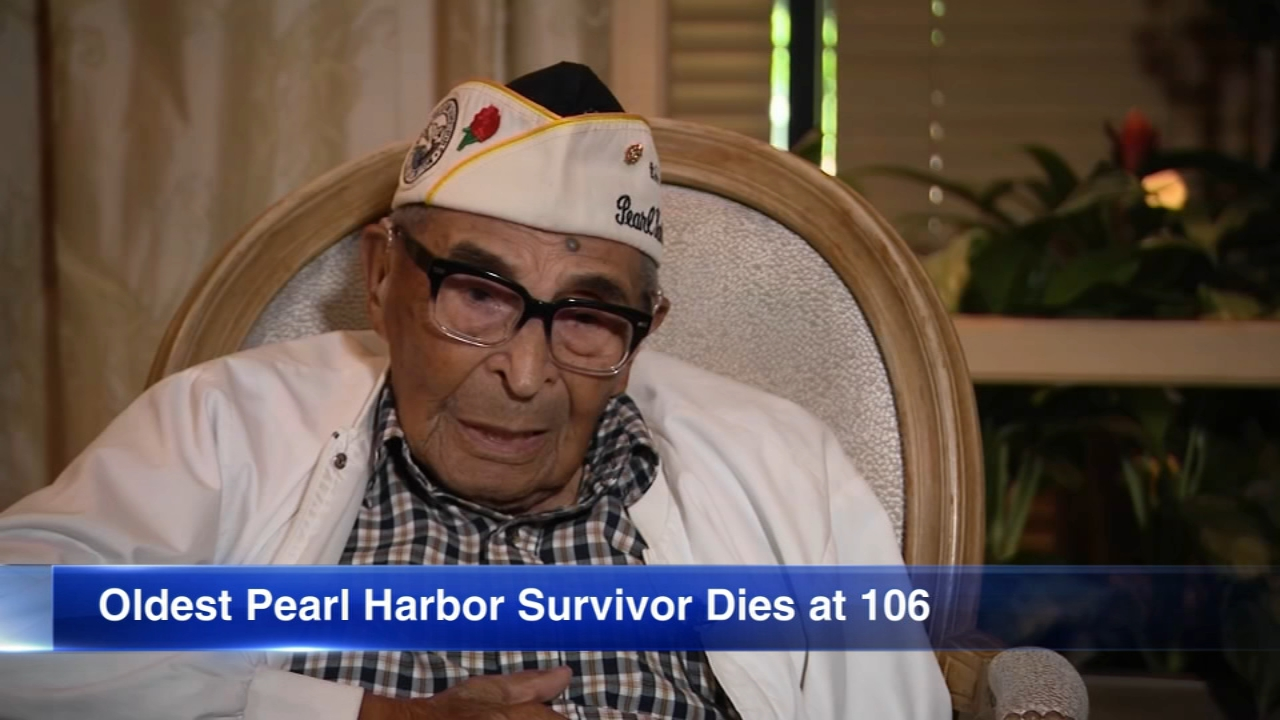 The oldest survivor of the attack on Pearl Harbor died Wednesday at 106.