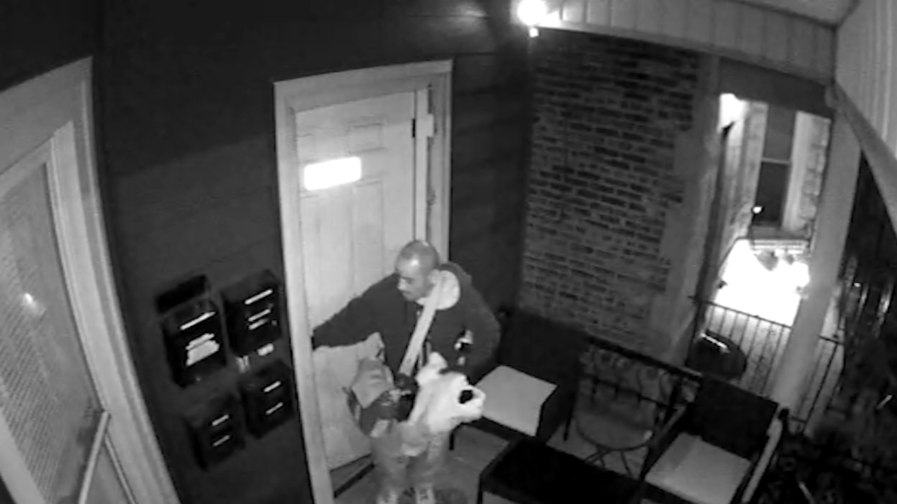A burglar made off with thousands of dollars worth of electronics in Logan Square.