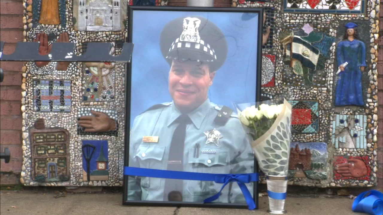 A memorial was held Saturday for the fallen CPD officer Samuel Jimenez.
