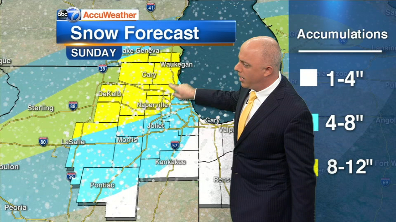 A winter storm warning has been issued for the Chicago area beginning Sunday.