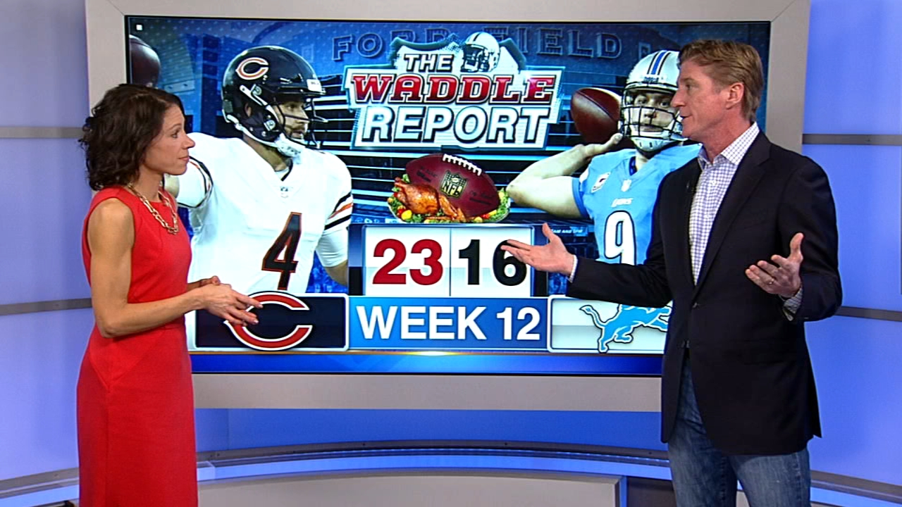 In this weeks Waddles World, ABC7 sports reporter Dionne Miller and former Chicago Bears player Tom Waddle talked about the Chicago Bears 23-16 win over the Detroit Lions on T