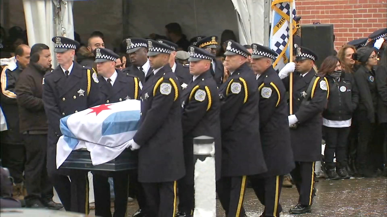 Fallen Chicago police Officer Samuel Jimenez was laid to rest a week after he was killed in the Mercy Hospital shooting.