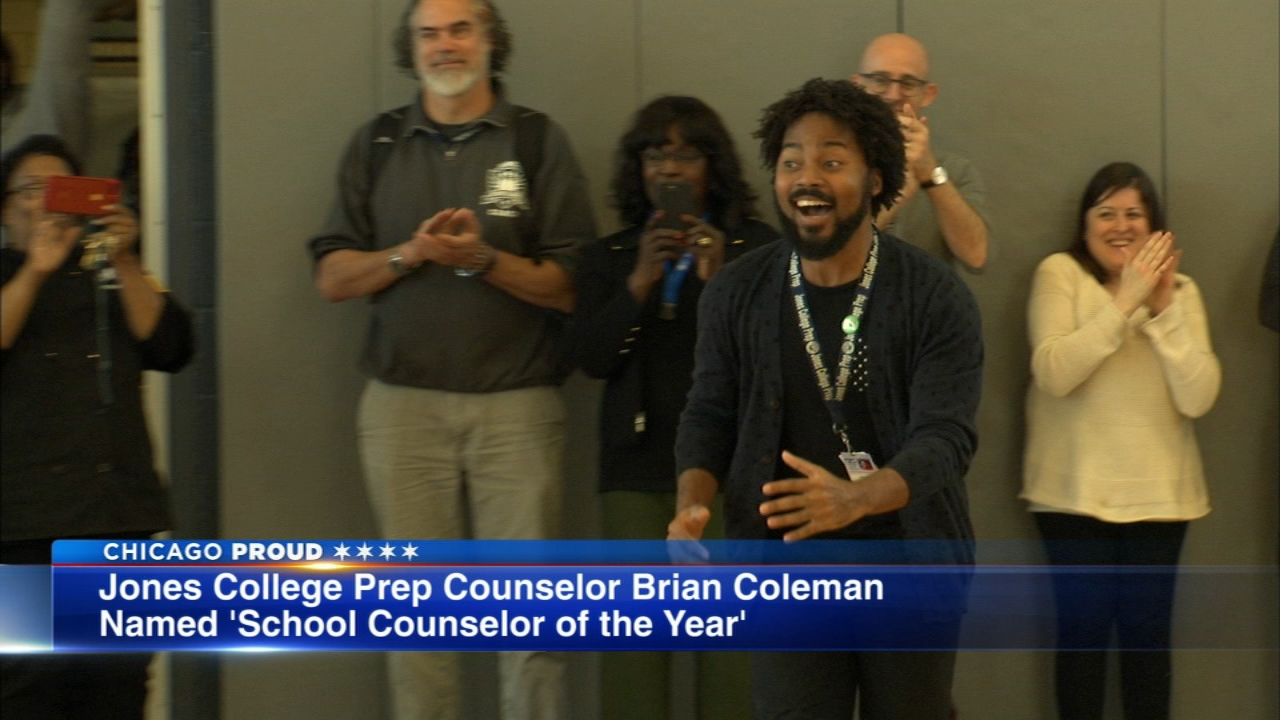 A school counselor at Jones College Prep has been named the nations best.