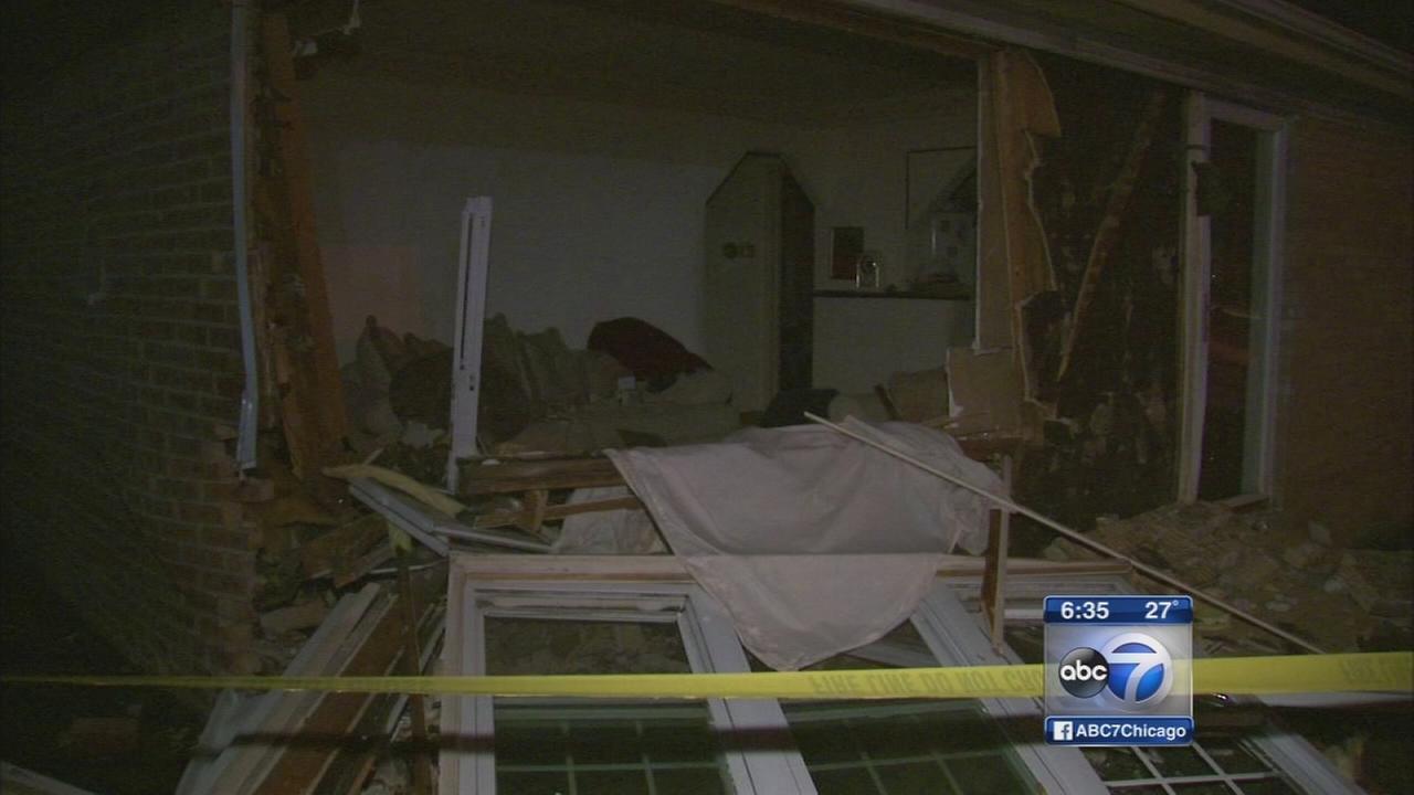 Car crashes into Robbins home, police say
