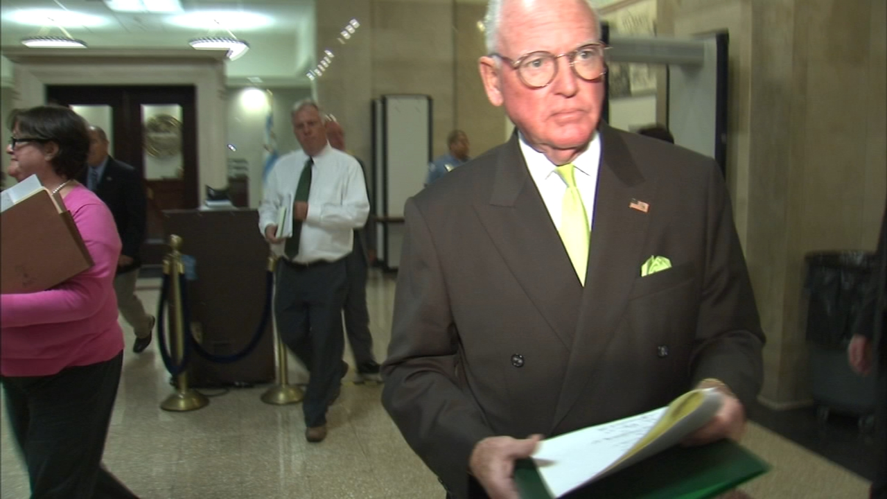Alderman Ed Burke was laying low Friday, one day after FBI agents raided two of his offices.