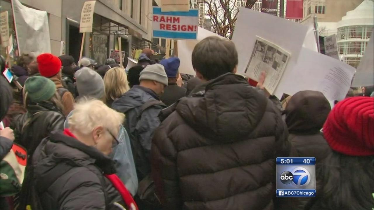 Protesters march on Mag Mile