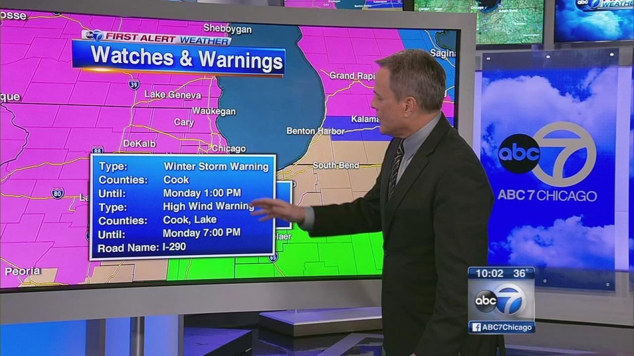 Icy conditions could snarl Monday commute