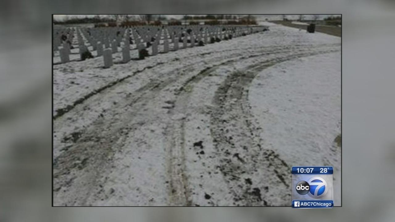 Trucker runs over graves at Elwood veterans cemetery