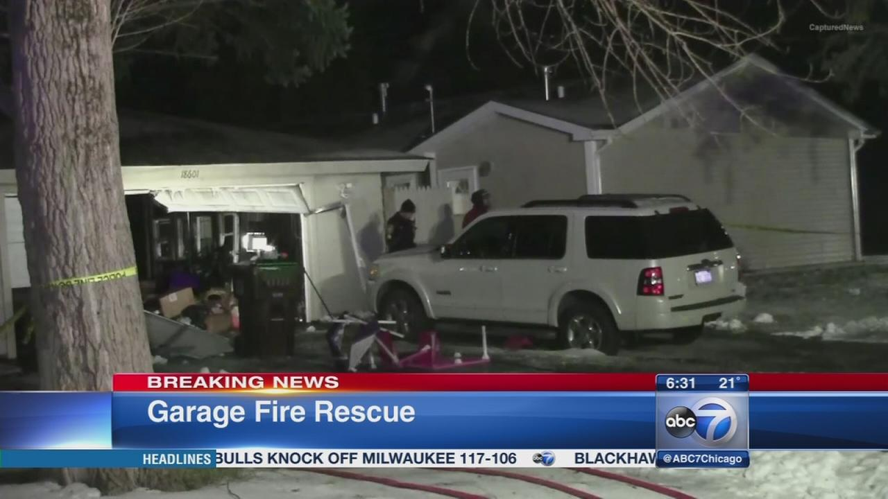 1 rescued from Country Club Hills garage fire