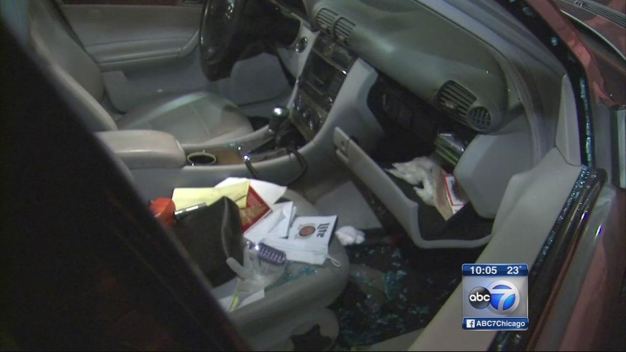 Car break-ins at Metra parking lot