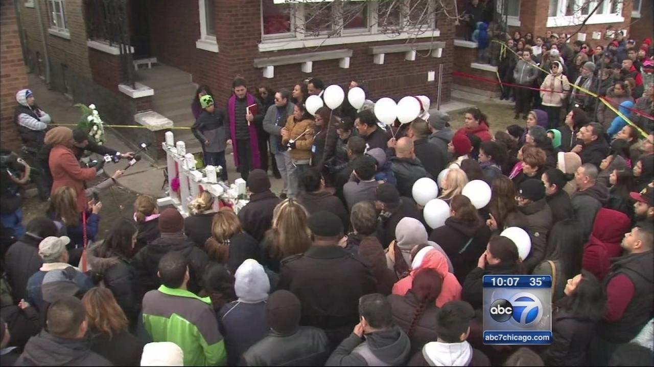 Vigil held for Martinez family