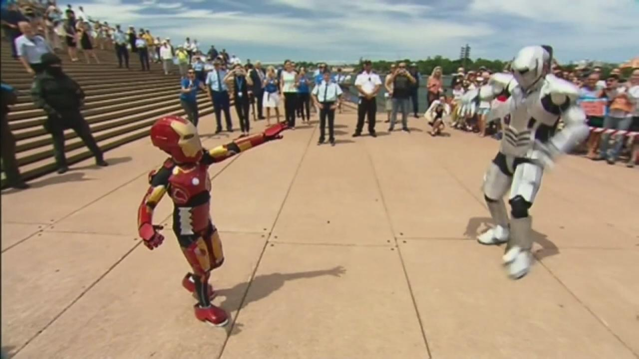 Iron Boy saves Australian city