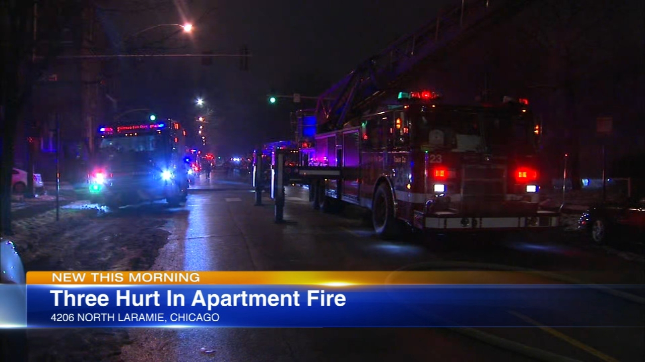 Three people were injured in an apartment fire early Saturday.